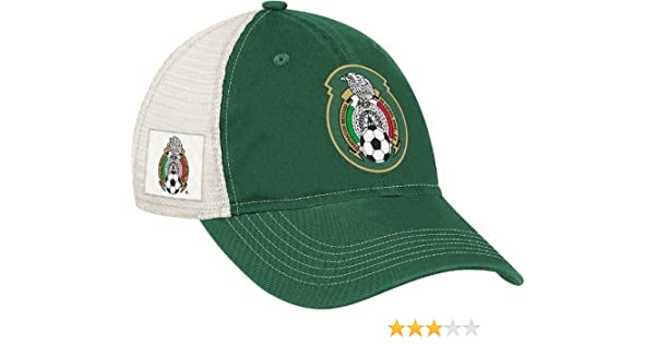 e2fb96a3726af Amazon.com   Mexico National Soccer Futbol Team Adidas Slouch Adjustable Hat    Sports Fan Baseball Caps   Clothing