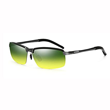 ZX Hombres Día Y Noche Uso Dual Conductor Lente Polarizado UV 400 Sombra Gafas De Sol