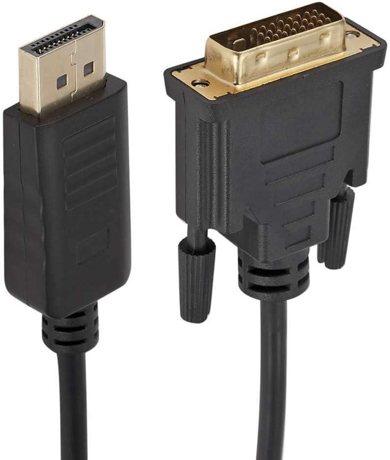 Wuqiong 1,8 m DP Macho a DVI-D Macho del Cable convertidor Apoyado 1080P Full HD DisplayPort a DVI Adaptador para HDTV