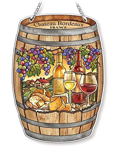 Amia Wine & Cheese, Glass Suncatcher Multicolored