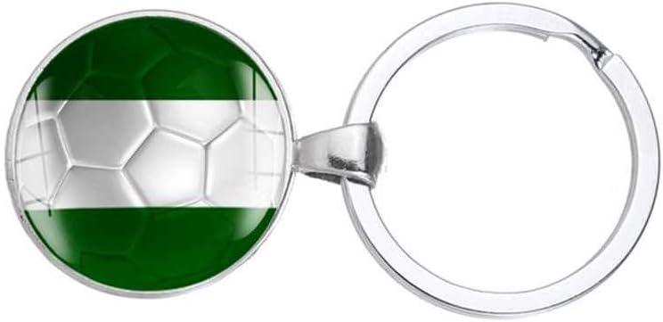 Lidahaotin Coupe du Monde de Football Drapeaux nationaux de Football Pendentif Porte-cl/és en m/étal Porte-Anneau Porte-cl/és Allemagne