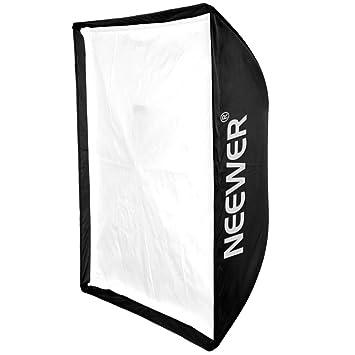 Neewer 120cm x 120 cm Paraguas tipo Softbox cuadrado de Speedlite Estudio de Foto con rejilla