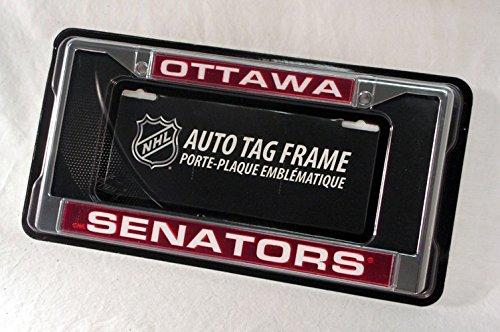 Rico Industries NHL Ottawa Senators Laser Cut Inlaid Standard Chrome License Plate Frame
