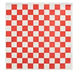 Deli Paper Sheets - Food Paper Liners for Plastic Food Basket. Grease Resistant - 100 Sheets 12x12'' Red and White Checkered - Free eBook