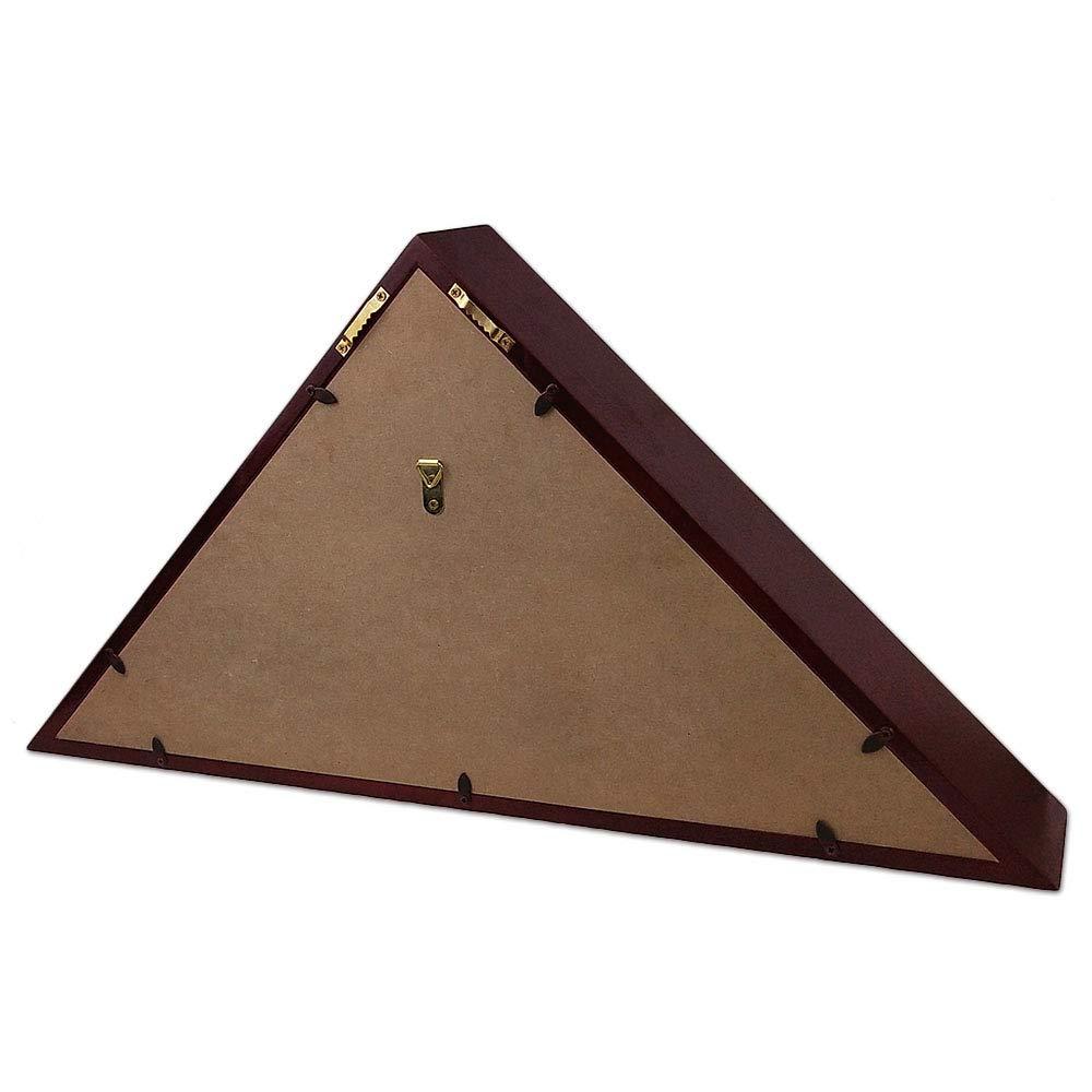 Indeep Flag Display Case 5 x 9.5 Burial//Funeral//Veteran Flag Holder Box Frame Solid Wood