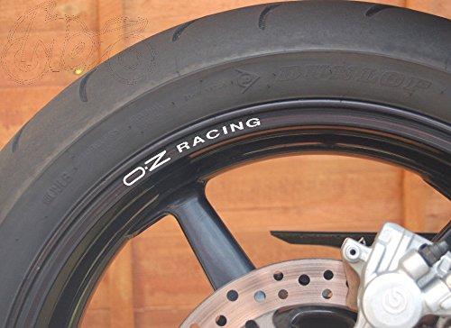8stk OZ Racing Felgenrandaufkleber Aufkleber Sticker Decal 10mm Logo Die Cut Felgen Motorrad Bike VFR Fireblade