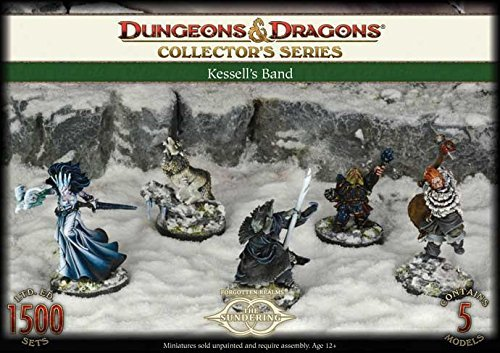 Gale Force 9 71023 Dungeons And Dragons Kessels Band, 5 Unpainted and Unassembled Resin Figures by Gale Force Nine