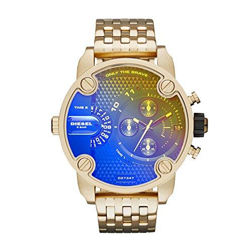 Fold Down Brief - Diesel Men's DZ7347 Little Daddy Analog Display Analog Quartz Gold Watch