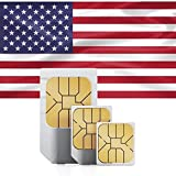 SIMカード アメリカ ハワイ 4G高速通信 30日間利用可能 容量3GB 5GB拡大(2019/1/31まで) 128kbps通信無制限 アメリカ国内音声通話無制限 SMS/MMS無制限 日本語マニュアル付き プリペイド