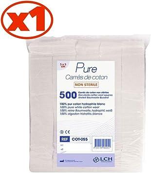 Antigua Health Care Cot-055 - Cuadrados de algodón hidrófilo, 100 ...