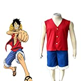 Love Anime Cosplay Costume Uniform Clothes-Monkey D Luffy 2Pcs Set