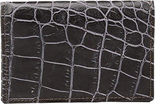 Bosca Men's Croco - Deluxe Front Pocket Wallet (One Size, Dark (Mens Deluxe Front Pocket Wallet)