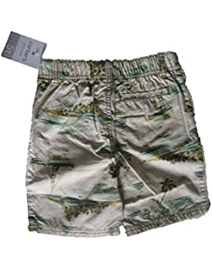Carter's Beige Tropical Print Shorts 5T