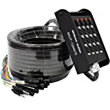 Seismic Audio - SAJT-12x4x75 - 12 Channel 75' XLR Snake Cable with 1/4'' Returns