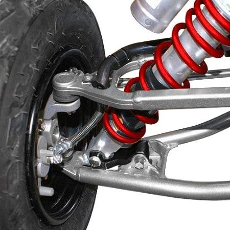 T6 Billet BlackPath Yamaha 3.5 Front and Adjustable 1-4 Rear Lowering Kit Raptor 350 660 700 ATV Full Suspension Drop Silver