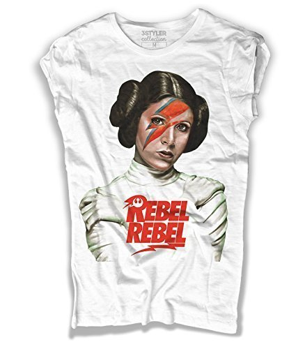 Rebel Leia A Bianco Bowie Donna David Di shirt T Principessa Ispirata nUAtYxFqO