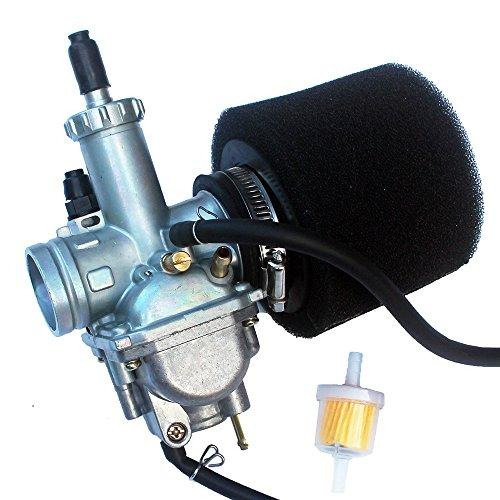(KIPA Carburetor Air Fitler Fuel Filter Kit For Kawasaki Bayou 220 KLF220A KLF220 KLF 220A ATV Quad 1988-1998 Bayou KLF 250 2003-2011 Replace OEM Part # 15003-1080, 15003-1716 Washable new Air filter)
