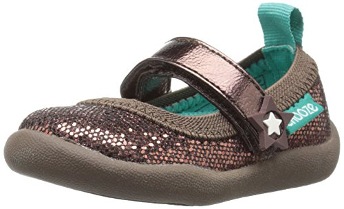 CHOOZE Girls' Jump Mary Jane, Glow Bronze, 12 M US Little...