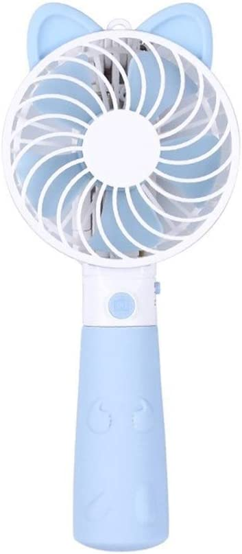 Color : Blue Shengjuanfeng USB Fans Portable Fan with Self-Timer Rod USB Mini Handheld Small Fan Travel Camping for Home Office Outdoor Travel