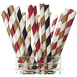 Cowboy Party Straws (25 Pack) - Country Western Birthday Party Supplies, Cowgirl Paper Drinking Straws, Cowboys Wild West Party Decorations