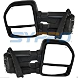 Nova Towing Mirrors for 2015-2018 Ford F150 Pickup Towing Power 8-Pin Heated Turn Signal Dual Glass(Flat + Convex) Plug & Play Mirrors Set Pair 2015 2016 2017 2018