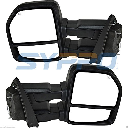 Glass Turn Signal Mirrors - Nova Towing Mirrors for 2015-2017 Ford F150 Pickup Towing Power 8-Pin Heated Turn Signal Dual Glass(Flat + Convex) Plug & Play Mirrors Set Pair 2015 2016 2017 2018