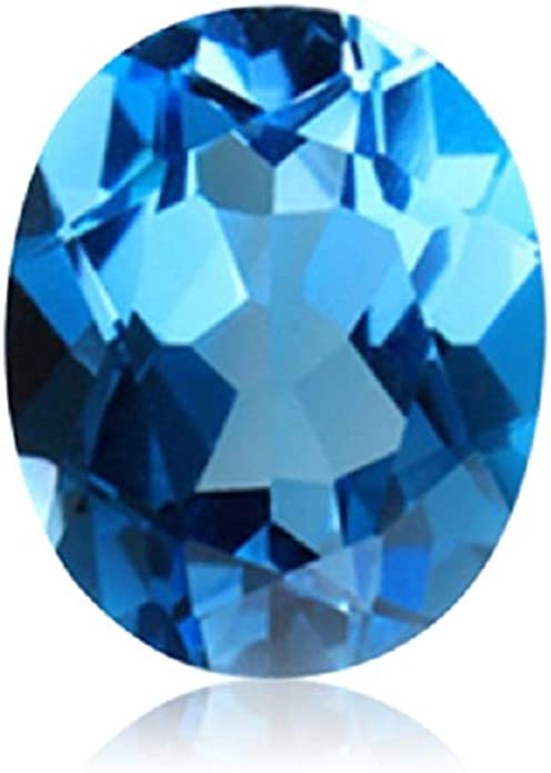 Swiss blue topaz gemstone loose stone oval 6x8mm approx 11cts only 5pices