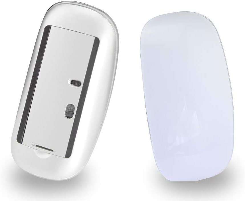 ZERODATE Touch Magic Wireless Bluetooth Ratón Travel Mini Ratones Ultrafinos Portátiles Compatibles con PC,Mac,Computadora Portátil,Android Windows XP Tablet-Blanco