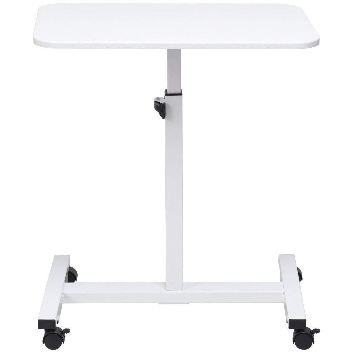 Nual_shop 高さ調整可能 ノートパソコンデスクワークステーションカート ベッドサイドテーブル   B07PWVH62C