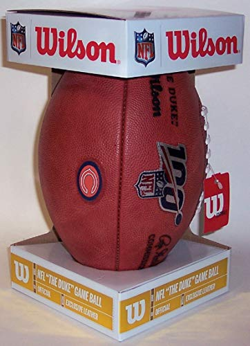 Official Wilson 100 Year NFL Pro Leather Game Football - Chicago Bears Logo - on Field Football - New in Box