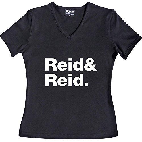 T34 - Camiseta V-Neck Black Women's T-Shirt