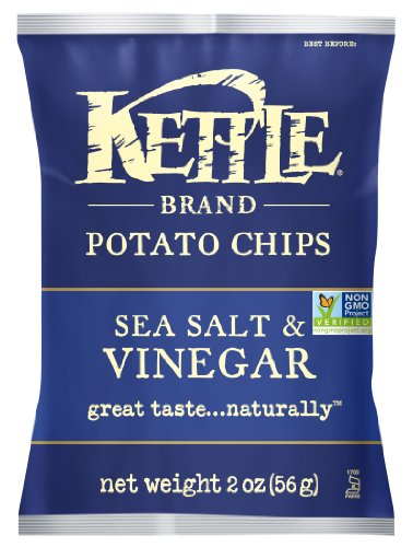Kettle Brand Potato Chips, Sea Salt & Vinegar, 2-Ounce Bags (Pack of 24) (Kettle Chips 2 Ounce compare prices)