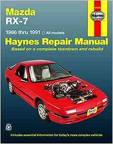 [DIAGRAM_5LK]  Mazda RX-7 models Including Turbo (86-91) Haynes Repair Manual (Haynes  Manuals): Haynes, John: 9781563920073: Amazon.com: Books | 1986 Mazda Rx 7 Engine Diagram |  | Amazon.com
