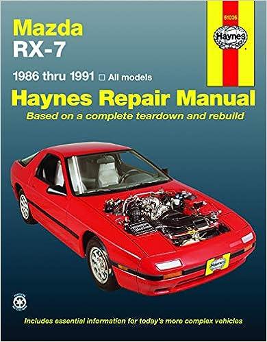[DIAGRAM_34OR]  Mazda RX-7 models Including Turbo (86-91) Haynes Repair Manual (Haynes  Manuals): Haynes, John: 9781563920073: Amazon.com: Books   1991 Mazda Rx 7 Engine Diagram      Amazon.com