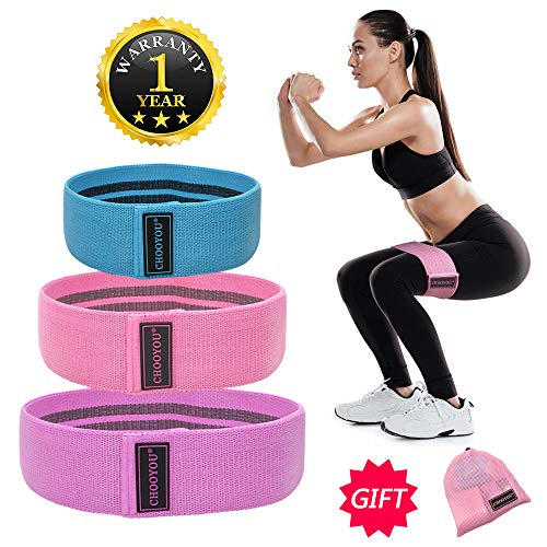 Resistance Exercise Bands for Legs and Butt, Hip Bands Booty Bands Wid