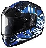 HJC CL-YSN Redline Full Face Youth Snow Helmet Framed Dual Lens Shield (MC-2 Blue, Small)