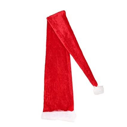 fe83ce069a577 Amazon.com  BESTOYARD Christmas Kids Long Santa Hat Xmas Headdress Party  Favors Photo Prop for Children Christmas Party(for Adults)  Toys   Games