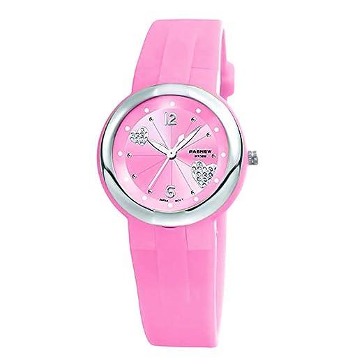 Reloj de Pulsera para niña, con corazón, Diamante, Brillante, Elegante, para Dar Las Gracias, Navidad, Año, Regalo para niños y niñas: Amazon.es: Relojes