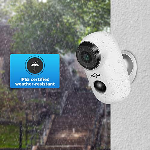 32GB Preinstalled Battery Powered Security Camera,Wireless Waterproof Outdoor Surveillance Camera No Month Fee Rechargeable Battery Operated Night Vision PIR Motion Detection