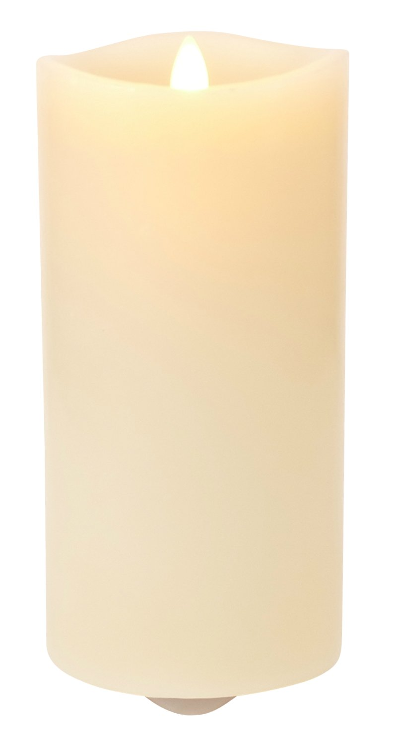 Luminara Fragrance Diffusing Candle:  Scent Diffusing Flameless Candle with Timer (7'' Ivory)