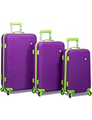 Rolite Orbit 3-Piece Lightweight Hardside Spinner Luggage Set, Purple