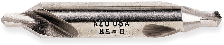 Spiral Flute Type 10300 Right Hand Cutting Direction Pack of 2 Keo High Speed Steel Double End Drill//Countersink