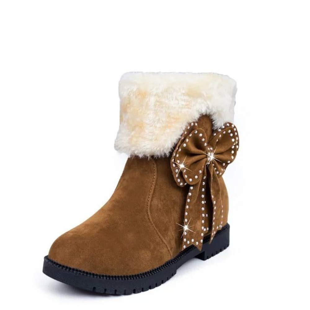Zapatos Invierno Mujer,Mujer Botas Mujer Botas de Nieve Botines Mujer Invierno Moda con Cordones cuñas Zapatos Invierno Calientes Moda Calzado QINGXIA_ZI