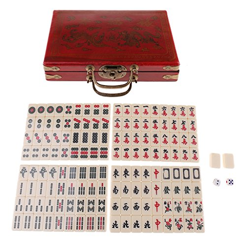 Baoblaze Decoration Jewelry Storage Box Chinese Antique Mahjong Set for Entertainment