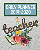 Teacher Daily Planner 2019-2020: West Virginia Watercolor Floral Daily Teacher Planner | Academic Year Lesson Plan and Record Book August through July
