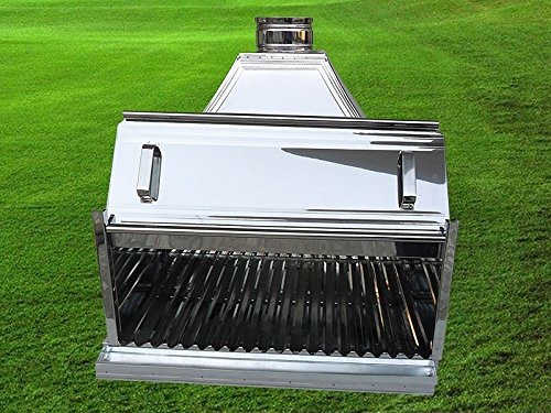 W: 70 CM - 27.56 '' indoor/outdoor PROFESSIONAL Commercial Restaurant Charbroiler CHARCOAL Grill with Chimney, Barbecue BBQ CharGrill Char Broiler