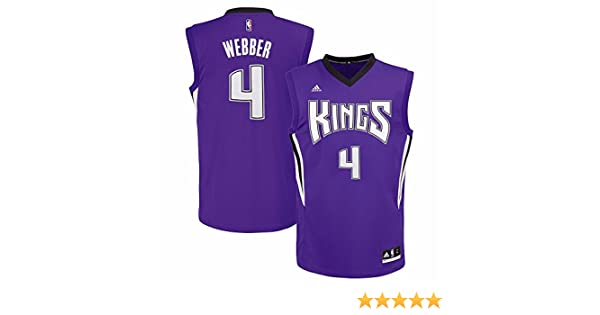newest a680a 437df adidas Chris Webber Sacramento Kings NBA Men's Purple Replica Jersey