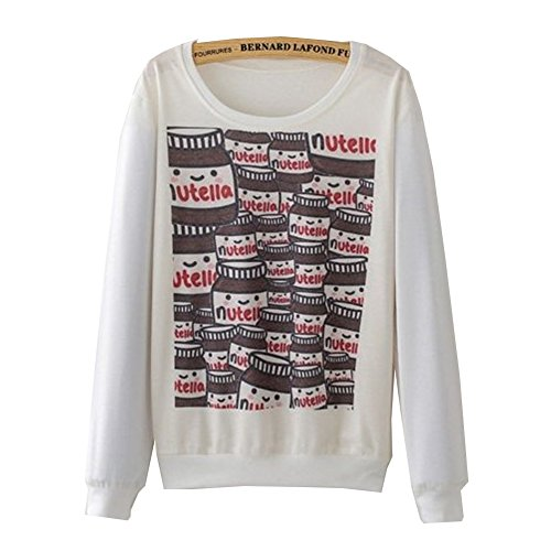 (Fashion Printing Elephant Graphic Sweatshirt Casual Pullovers Tops (N30))