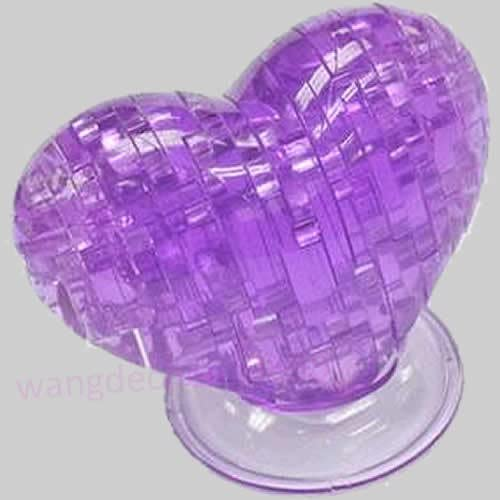 3D Crystal Love Heart Puzzle Jigsaw Model Blocks Gadget Children IQ Toy Noted