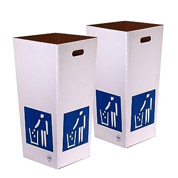 Kartox | Papelera de Cartón de Reciclaje Automontable | Caja de Cartón para Reciclar | Lote de 2 unidades